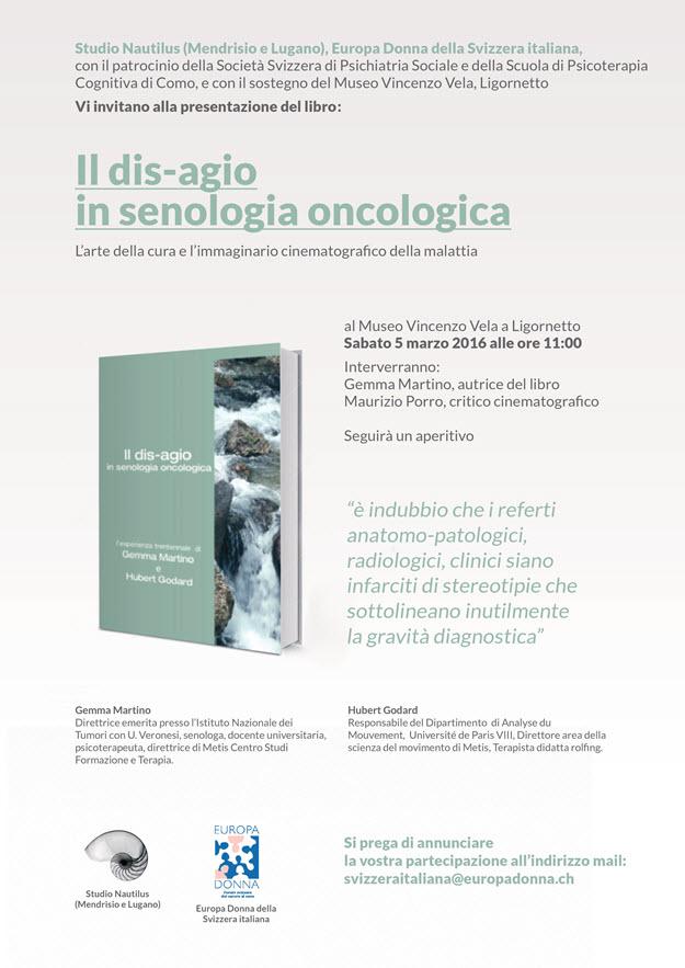 flyer 'Il dis-agio in senologia oncologica'